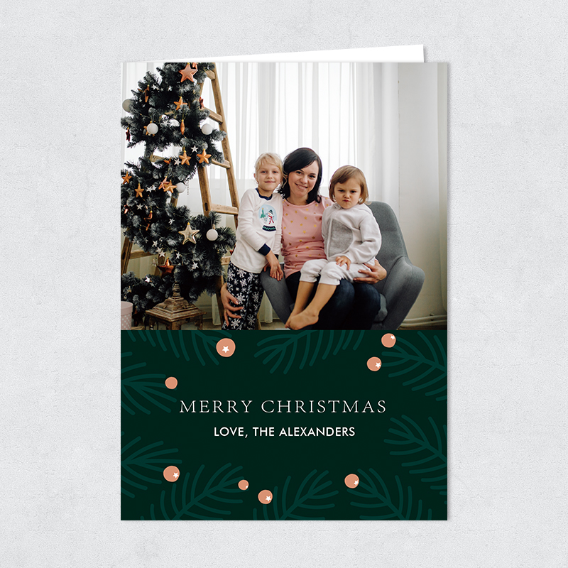 Merry Berries Family Photo Christmas Holiday Card PBHAL014