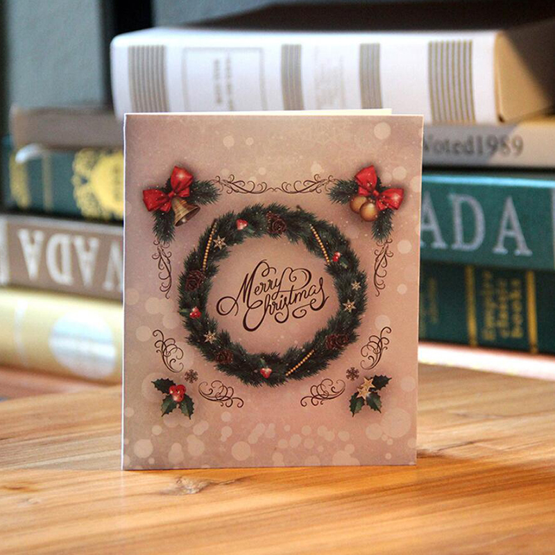3D Merry Chrismas Card Christmas Pop Up Card Greetings Card PBHAL027
