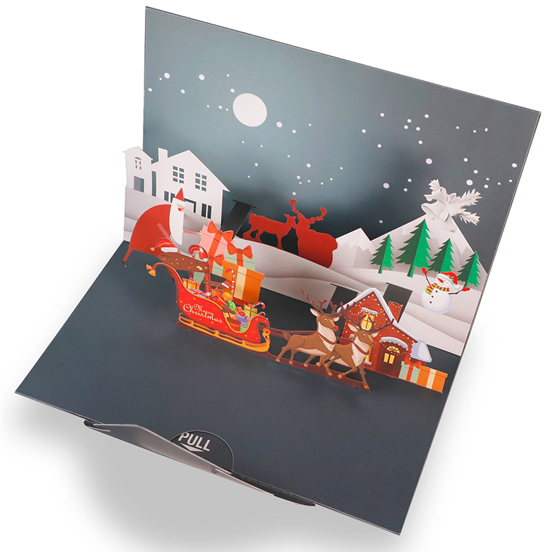 3D Merry Chrismas Card Christmas Pop Up Card Greetings Card PBHAL028